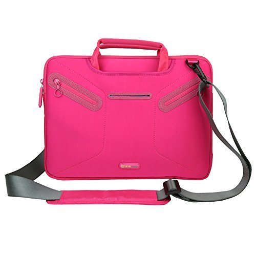 Evecase 12.5 ~ 13.3 inch Ultrabooks/ Laptop / NetBook/ MacBook / iPad Pro Multi-functional Neoprene Messenger Case Tote Bag with Handle and Carrying Strap (Hot Pink) (Hp Split Detachable compare prices)