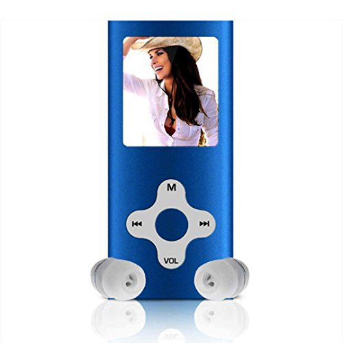 MP3 MP4 Player, Changeshopping 8GB Slim Digital MP3 MP4 Player 1.8inch LCD Screen FM Radio Video Games Movie Blue