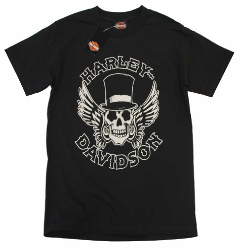Harley-Davidson Men's Way of Life Skull Short Sleeve T-Shirt Black 30298308 (M)