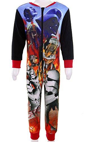 Ragazzi Star Wars Darth Vader Storm Trooper Pigiama pigiamino pigiama 2-10anni Black/Red 5-6 Anni