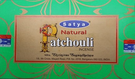 Natural Patchouli Incense Sticks - By Satya Nag Champa - Pack of 15 G X 12 Boxes - 180 G Total tings crunchy corn sticks 6 ounce bags pack of 12