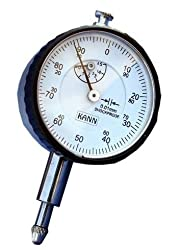 PLUNGER TYPE DIAL GAUGE BY KANN 0.01MM READING ,RANGE 10MM & GRADUATION 0-100)