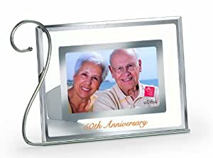 Russ 50th Anniversary Glass Frame, 4 by 6-Inch