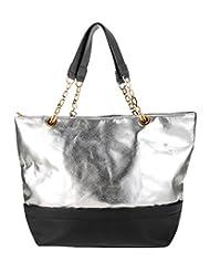 Abrazo Stylishly Yours Women's Handbag(Silver-Black...