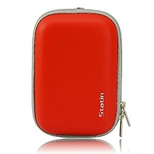 First2savvv BDX0908 red Compact anti-shock camera case bag for Nikon COOLPIX S3600 COOLPIX S5300 Canon IXUS 265 HS panasonic DMC-SZ8EB-K Sony DSC-W800 DSC-WX220 DSC-WX350 Canon PowerShot S200 FUJIFILM FinePix JX660 OLYMPUS TG-835 with mini tripod