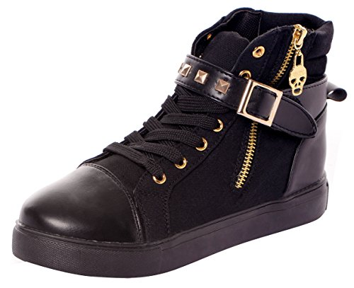 serene-womens-casual-canvas-lace-up-high-top-rivets-wedge-fashion-sneaker55-bmusblack