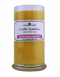 Pumpkin Spice Candle Sparkler w/ .925 Sterling Silver Jewelry Inside