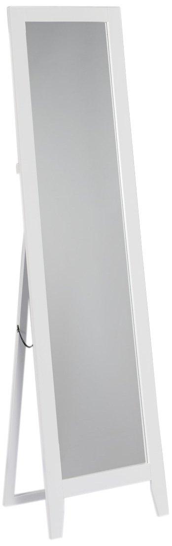 Kings Brand White Finish Wood Frame Floor Standing Mirror