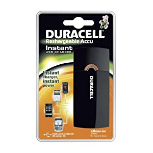Duracell Instant Charger for immediate power while recharging mobile devices, EACH