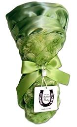 Max Daniel Baby Rosebuds and Satin Security Blanket - Celery
