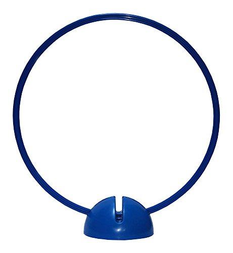 Artikelbild: Agility Hundesport - X-Standfuß, blau und Ring / Reifen Ø 40 cm, blau