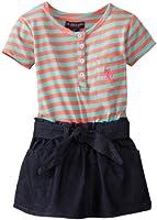 U.S. Polo Assn. Little Girls' Jersey-Knit Top and Denim Bottom Dress