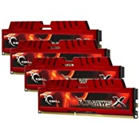 G.SKILL Ripjaws X Series 32GB 4 X 8GB 240-Pin SDRAM DDR3 1600 PC3 12800 Desktop Memory F3-12800CL10Q-32GBXL