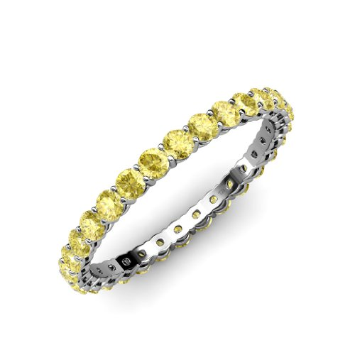 Yellow-Sapphire-Gallery-Eternity-Band-095ct-tw-to-115ct-tw-in-14K-Gold