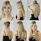 "Clip in on Hair Extensions 18"" Elizawigs , Color 613 Platinum Blonde 100g"