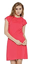 Sera Women's Dress (LA2270-Coral-M, Pink, Medium)