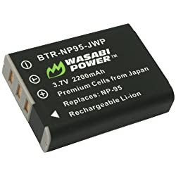 Wasabi Power Battery for Fujifilm NP-95 and Fuji FinePix REAL 3D W1 X100 X100S X-S1