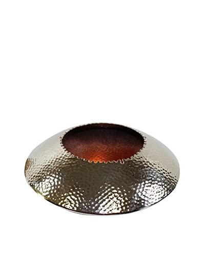 Pampa Bay Hammered Nickel & Copper Small Round Bowl