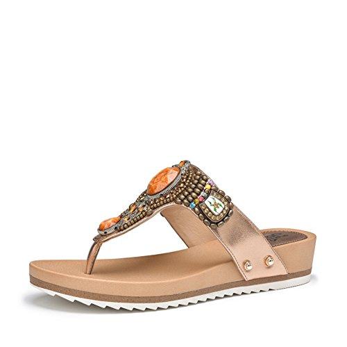 Chaussures d'été nouveau/Pantoufles et loisirs strass sandales plates/Tongs de la mode