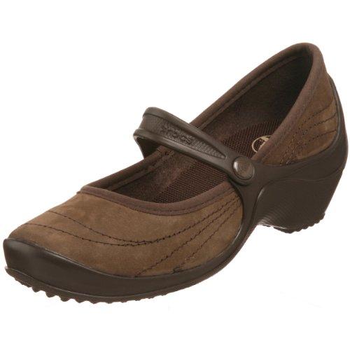 Crocs Women's Wrapped Wedge Espresso Wedges Heel 10889-22Z-460 6 UK