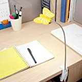Renata LED Flyte Clamp - Cool White Light - Yellow (with AC Adapter)