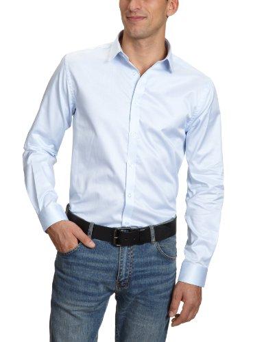 Jack & Jones Andrew - Camicia slim fit, manica lunga, uomo Blu (Blau (Shirt Blue)) L