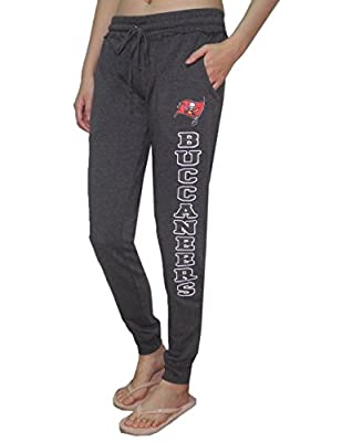 TAMPA BAY BUCCANEERS NFL Womens Athletic Cuffed Track Pants / Sweatpants