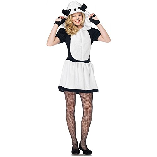 GSG Pretty Panda Bear Costume Teen Junior Preteen Tween Hooded Halloween Dress (Pretty Little Pirate Baby Costume)