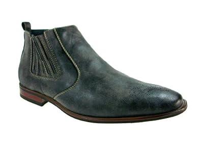 Ferro Aldo Men's 606005 Slip on Distressed Ankle Boot, Grey, 7.5