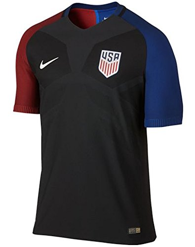 2016-2017 Nike US Authentic Away Vapor Jersey (Black) (L) (Nike Boys Vapor Elite compare prices)