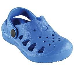 Luvable Friends Baby EVA Clogs, Blue, 2T-2.5T