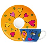 Ritzenhoff Amore Mio Cappuccino Cup and Saucer Design by Yvonne So