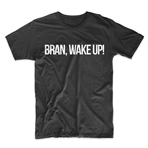 Bran, Wake Up! Bran Stark Uomo T-Shirt Maglietta Nero Large