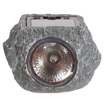 Mini Outdoor Solar Powered Led Garden Rock Light 3 Pack Ebay