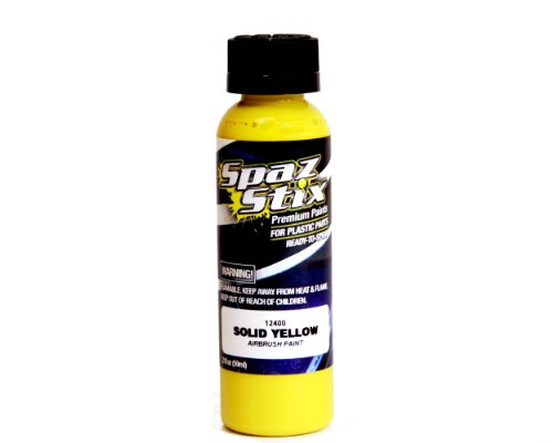 Spaz Stix Solid Airbrush Paint, Yellow, 2-Ounce