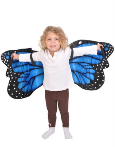 Blue Morpho Butterfly Plush Costume Wings front-84236