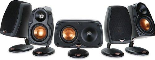 klipsch cinema 6 black home theater surround sound speaker system reviews turezery03. Black Bedroom Furniture Sets. Home Design Ideas