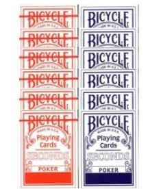 Cartouche BICYCLE Second (6 bleus - 6 rouges)
