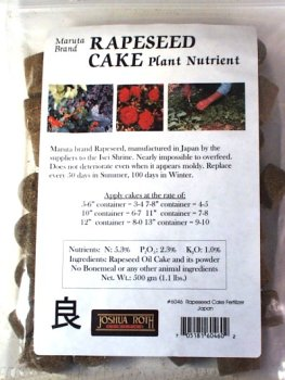 Rapeseed Cake Plant Nutrient for Bonsai or gardenB0006BEAAY