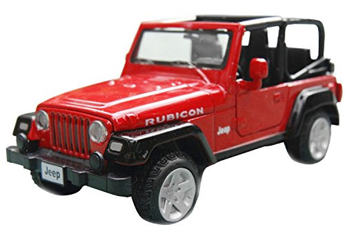 Nuoya001 Jeep Wrangler Convertible Alloy Diecast Car Model 4-Door Suv Sound&Light Red