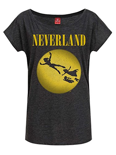 Peter Pan Tinker Bell - Neverland Seattle Maglia donna grigio scuro XXL