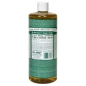 buy dr bronner 39 s magic soaps pure castile soap 18 in 1 hemp almond 32 ounce bottles pack of. Black Bedroom Furniture Sets. Home Design Ideas