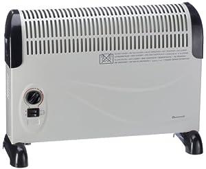 Duracraft CZ-700E Konvektor in hellgr./schwarz 800/1200/2000 Watt für Räume bis 24m²