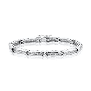 10K White Gold 2 ct. Diamond Tennis Bracelet