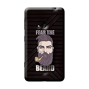 Garmor Fear The Beard Design Plastic Back Cover For Nokia Lumia 625