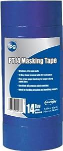 Intertape Polymer Group PT14..35 Premium Masking Tape with Block It, 0.70-Inch x 60-Yard, Blue