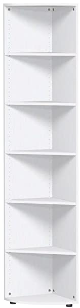 Mensola angolare conclusione con piedini, 400x 400x 2160, bianco, Gera mobili