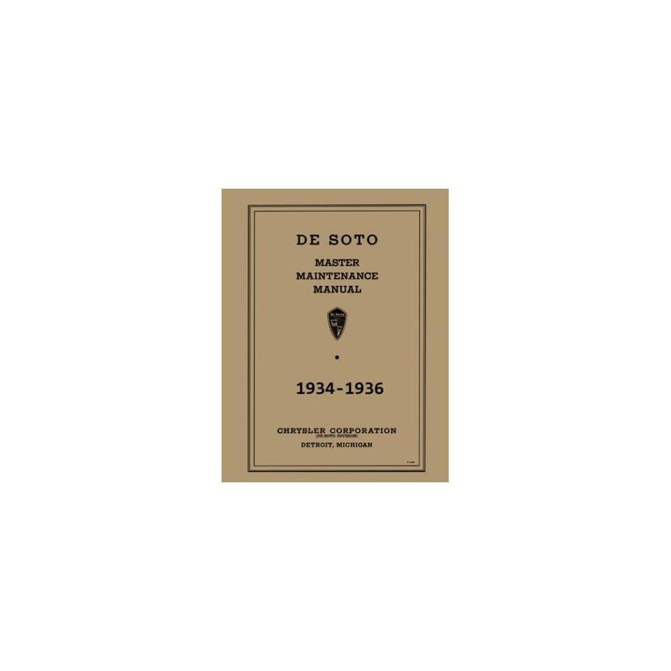 1934 1935 1936 DESOTO Shop Service Repair Manual Book Automotive