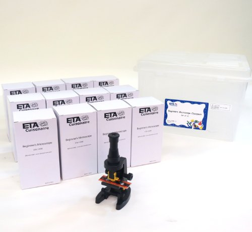 Eta Hand2Mind Beginner'S Microscope, 100X And 150X Magnification With Tote (Set Of 12)