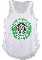 MIXLOT nouvelles dames STARBUCKS logo imprimé t-shirt gilet maison de café des femmes graphiques occasionnel débardeur 36-42